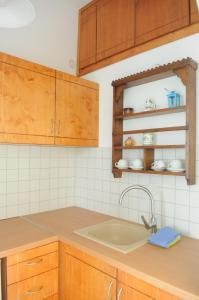 A kitchen or kitchenette at Pegasus Studios & Apartments