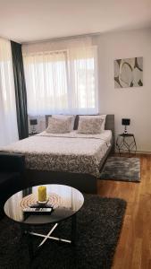 Posteľ alebo postele v izbe v ubytovaní Studio apartment Hypnos Zagreb
