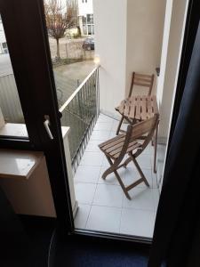 Ein Balkon oder eine Terrasse in der Unterkunft Apartments Blumenthal