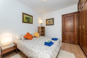 Cama o camas de una habitación en Apartamento Dunas Famara