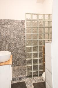 Kúpeľňa v ubytovaní Šafranová záhrada