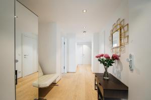 Ein Sitzbereich in der Unterkunft Galerie 18 Apartments