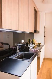 Kuchyňa alebo kuchynka v ubytovaní Rita Apartman