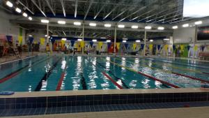 The swimming pool at or near Apartment 2 in Cote Saint-Luc Montreal