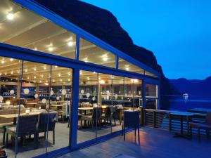 A restaurant or other place to eat at Flåm Marina