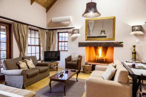 A seating area at Karoo View Cottages