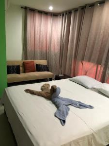 Cama ou camas em um quarto em Apartmentos Tropical Dreams 2