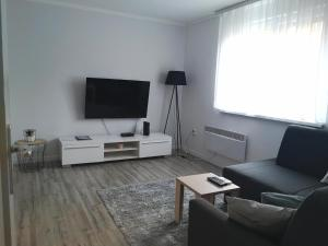 A television and/or entertainment center at Modern apartment V.B.K. Osijek