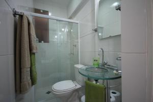 Koupelna v ubytování Apartamento Forte Copacabana