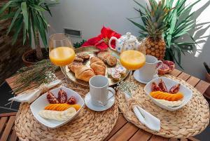 Opciones de desayuno disponibles en Las Rejas Apartment