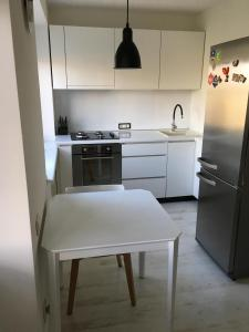 A kitchen or kitchenette at Trakų street Apartment