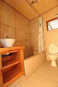 A bathroom at Edens Touch