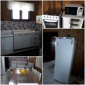 A kitchen or kitchenette at Casa para Lazer