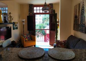 A seating area at Apartamento La Peatonal