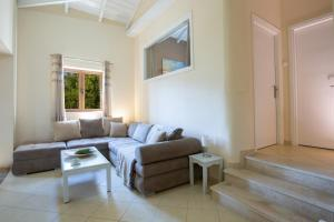 A seating area at Ionian View Villas