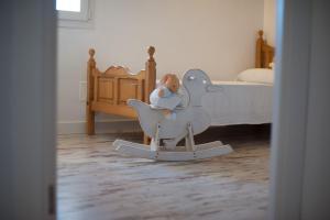 Ein Bett oder Betten in einem Zimmer der Unterkunft Can Ferrer