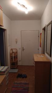 A bathroom at Mitten in Linz