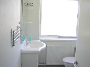 Et badeværelse på Hotel Strandvejen Apartment 4