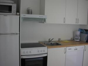 Køkken eller tekøkken på Hotel Strandvejen Apartment 4