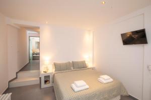 Cama o camas de una habitación en Santorini View Studios - Firostefani Caldera