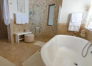 A bathroom at Dolphin Villa Sea View Apartments
