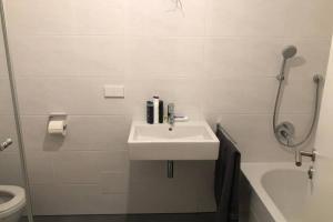 A bathroom at 133 Mainzer Landstrasse, Frankfurt
