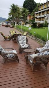 A porch or other outdoor area at Flat Angra Paradise