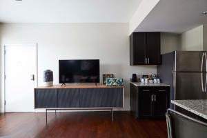 A television and/or entertainment center at Oliver 12 South