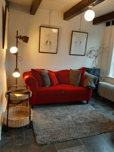 A seating area at Appartement 2 Bad Nieuweschans