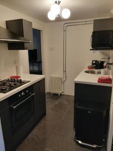 A kitchen or kitchenette at Appartement 2 Bad Nieuweschans