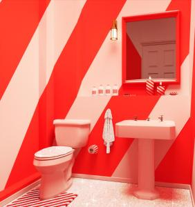 A bathroom at BOOKING.COM CANDY CANE HOUSE
