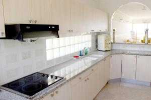 A kitchen or kitchenette at DUPLEX ON THE BEACH ASHDOD