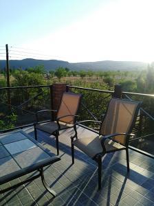 Un balcón o terraza en Cabañas Abigail