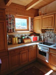 Küche/Küchenzeile in der Unterkunft Apartment Hausberger