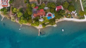 A bird's-eye view of Villa Flisvos
