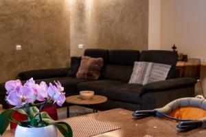 Ein Sitzbereich in der Unterkunft Haus Bergfrieden Seebacher