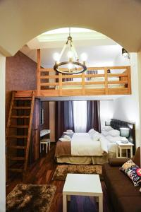 A bunk bed or bunk beds in a room at Mala Sava Apartmani