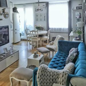 Posedenie v ubytovaní Queens Apartment Zagreb