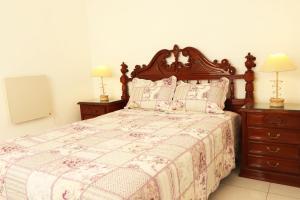 Una cama o camas en una habitación de Departamento 3 ambientes zona Plaza Mitre. Mar del Plata