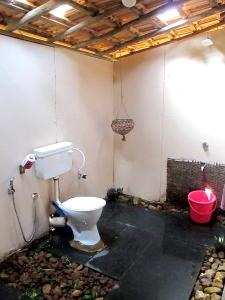 A bathroom at Galaxy Jungle Huts