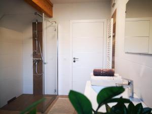 Ein Badezimmer in der Unterkunft Ferienwohnung Bergfeeling