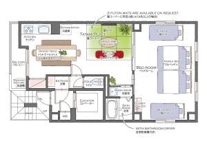 The floor plan of Asakusa Eight -Tokyo Condominium Hotel-