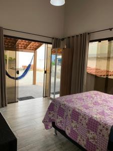 Cama o camas de una habitación en Praia dos Ingleses / Kitnet - 2 km da praia