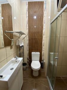 Vonios kambarys apgyvendinimo įstaigoje Minus One Suite