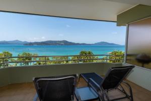 A balcony or terrace at Beach Lodges