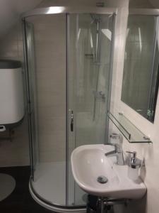 Koupelna v ubytování ubytování U Římských