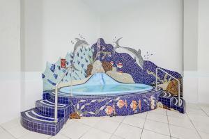 A bed or beds in a room at Apto 1 dormitório Vista para o Mar
