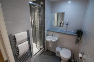 A bathroom at Seel Street Studios