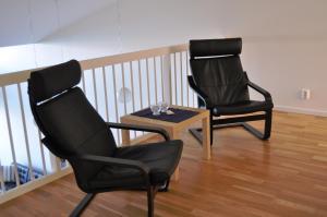 Ein Sitzbereich in der Unterkunft Bølgen - Overnatting Utsira