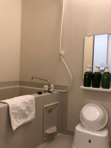 A bathroom at GLANZ KEI Gion Shinmonzen